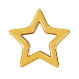 Christmas gold star. 3d render with HDR Royalty Free Stock Photos