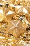 Christmas gold stars Stock Photos
