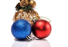 Christmas gold toy isolated on white background Royalty Free Stock Image