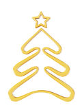 Christmas gold tree. 3d render with HDR Royalty Free Stock Photo