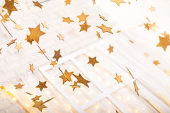Christmas gold and white decorations Royalty Free Stock Image