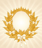 Christmas gold wreath Stock Photography