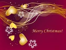 Christmas golden Stock Photos