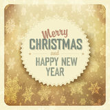 Christmas golden abstract background. Vector. Stock Photos