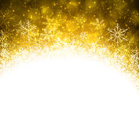 Christmas golden abstract background. Royalty Free Stock Images