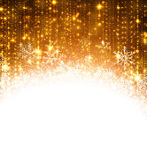 Christmas golden abstract background. Royalty Free Stock Photos