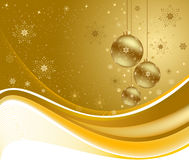 Christmas golden background  Royalty Free Stock Photo
