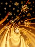 Christmas golden background Stock Images