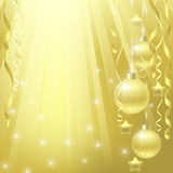Christmas golden background Royalty Free Stock Image