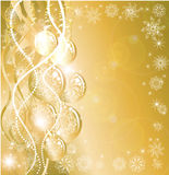 Christmas golden background Stock Image