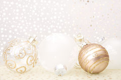 Christmas golden background Royalty Free Stock Photos