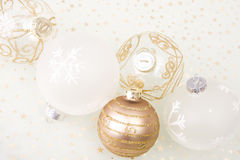 Christmas golden background Stock Photo