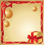 Christmas golden background. stock illustration