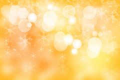Christmas golden background. Beautiful abstract golden festive b stock photo