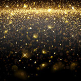Christmas Golden Background Stock Photos