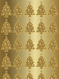 Christmas golden background with little tree Stock Image