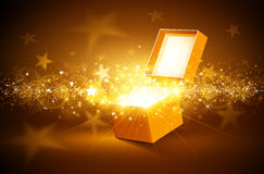 Christmas golden background Stock Photography