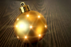 Christmas golden ball Royalty Free Stock Images