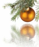 Christmas Golden Ball Royalty Free Stock Photography