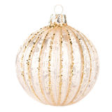 Christmas Golden  ball isolated on white background, festive dec Stock Images