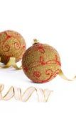 Christmas golden balls Royalty Free Stock Photography