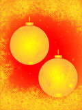 Christmas golden balls Stock Photography