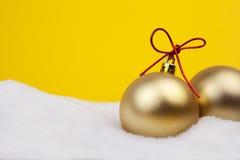 Christmas Golden Balls Stock Photography