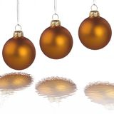 Christmas golden balls Stock Images
