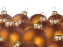 Christmas golden balls Stock Images