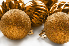Christmas golden balls Royalty Free Stock Images