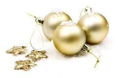 Christmas golden balls Stock Photo
