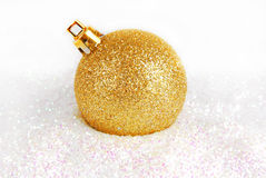Christmas golden bauble Royalty Free Stock Photography