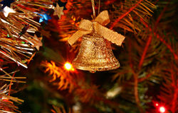Christmas golden bell Royalty Free Stock Images