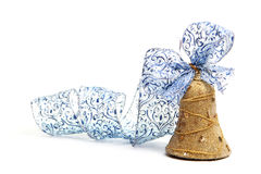 Christmas golden Bell isolated Royalty Free Stock Photos