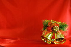 Christmas golden bells Stock Photo