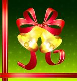 Christmas golden bells Stock Photography