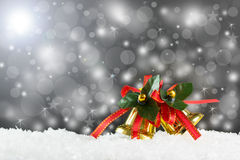 Christmas golden bells Royalty Free Stock Photography
