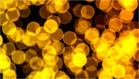 Christmas golden bokeh Stock Image