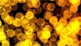Christmas golden bokeh. Nice golden defocused lights background Stock Image