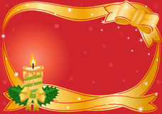 Christmas golden candle illustration Royalty Free Stock Photography