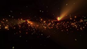 Christmas golden and colorful bokeh on black background with particles bokeh sparkling and flare, gold holiday stock video footage