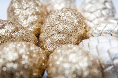 Christmas golden cones Stock Images