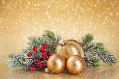 Christmas golden decoration Stock Image