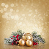 Christmas golden decoration Stock Images