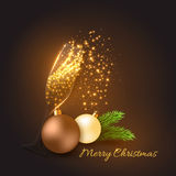 Christmas golden decoration Royalty Free Stock Images