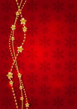 Christmas golden garland Stock Image