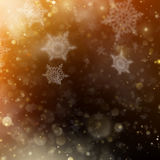 Christmas golden holiday glowing backdrop. EPS 10 vector Royalty Free Stock Photography