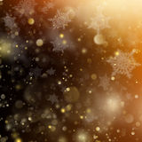 Christmas golden holiday glowing background. EPS 10 vector Stock Photography