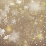 Christmas golden holiday glowing background. EPS 10 vector Royalty Free Stock Photos