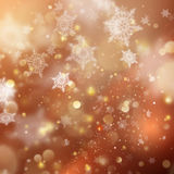 Christmas golden holiday glowing background. EPS 10 vector Stock Image